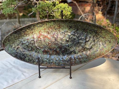 Oval Green Copper Platter