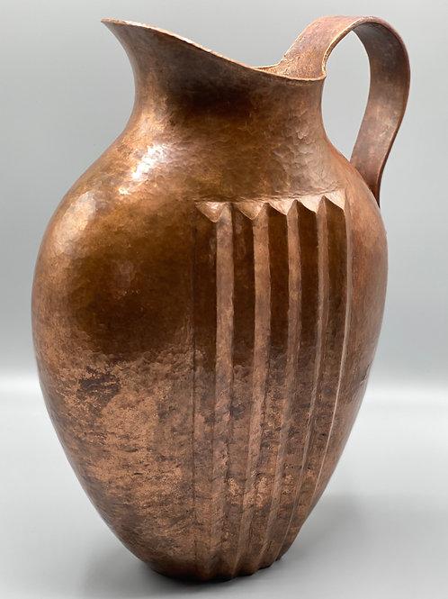 Copper Pitcher Hand-Hammered
