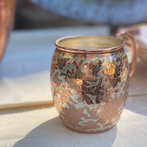 Inlaid Copper Silver Cup