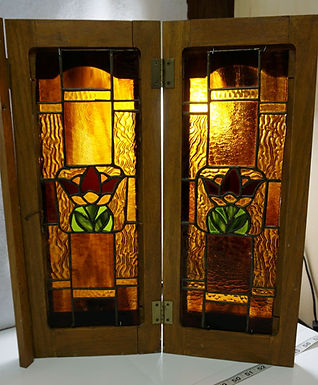 Pair Of Stained Glass Cabinet Doors