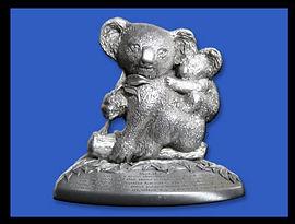 Souvenir Australia Koala Pewter Figurine