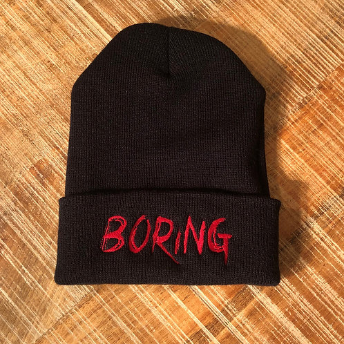 BORING Black Beanie