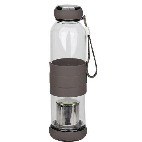 500ml Glass Tea Infuser Travel Bottle ( Brown,Yellow, Blue,