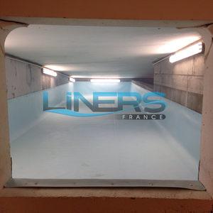 Réserves d'eau dans les parking souterrain de la Tour Sky à Courbevoie pour le groupe BATEG