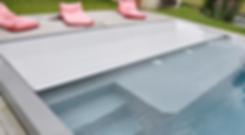 Volets piscine immergés