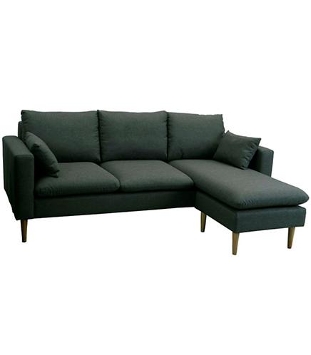 Grey Fabric Sofa Lounger