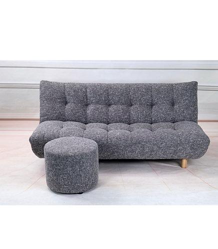 Black & White Fabric Sofa Bed