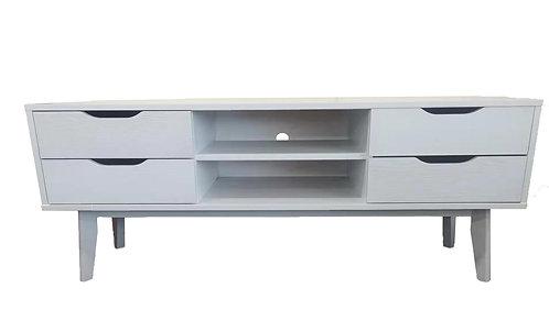 White Solid Frame TV Unit/Cabinet/Entertainment Unit