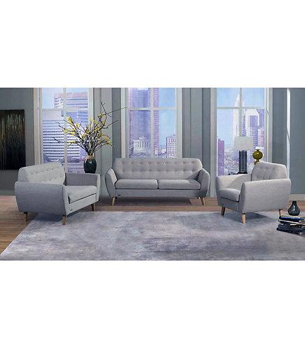 Grey Fabric 1-Seater/2-Seater/3-Seater Sofa