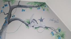 muurschildering dinosaurus jongen