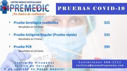 Hisopados, Pruebas detección COVID-19