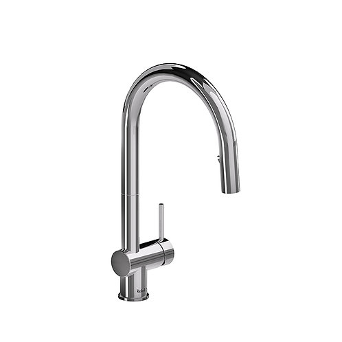 Riobel Azure kitchen faucet with2 jet sprayer - chrome