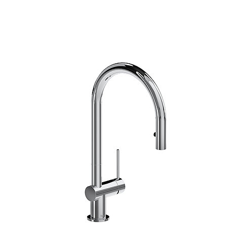 Riobel Azure kitchen faucet with1 jet sprayer - chrome