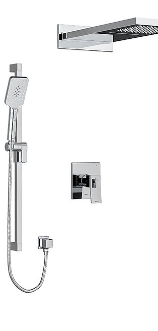 Riobel premium 2 way thermostatic shower kit, KIT#8045C, chrome
