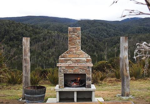 Schist Fireplace
