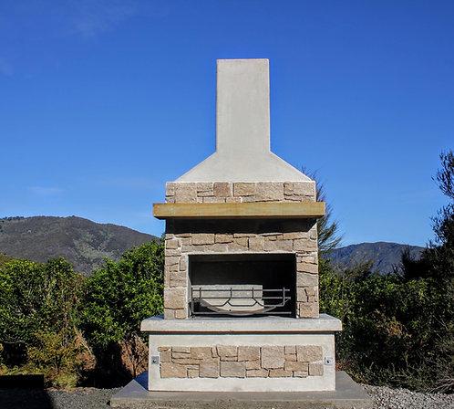 Desert Stone Fireplace