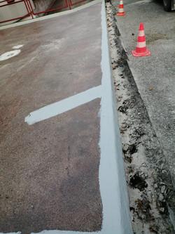 Riss-Sanierung in Betonplatte