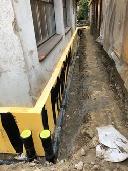 Einbau der neuen Kanalisation