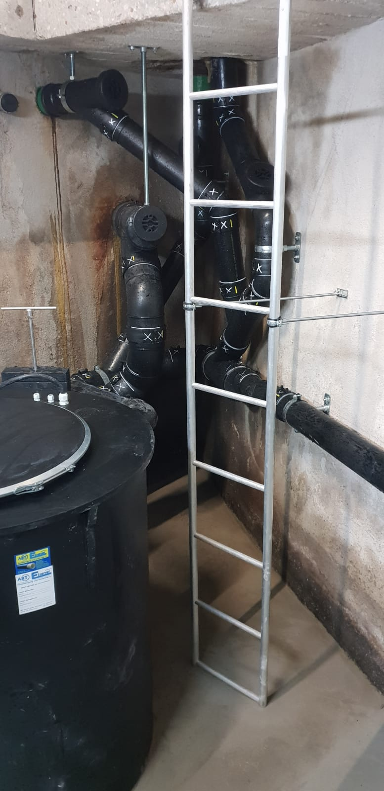 Fassung Abwasserleitungen