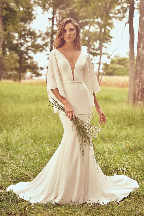 66070 Lillian West Fit & Flare Wedding Dress- To Order