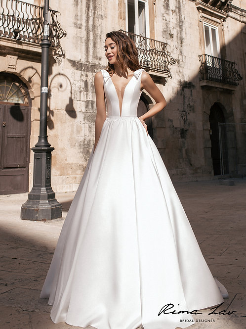 Lorine Rima Lav A-Line Wedding Dress- To Order