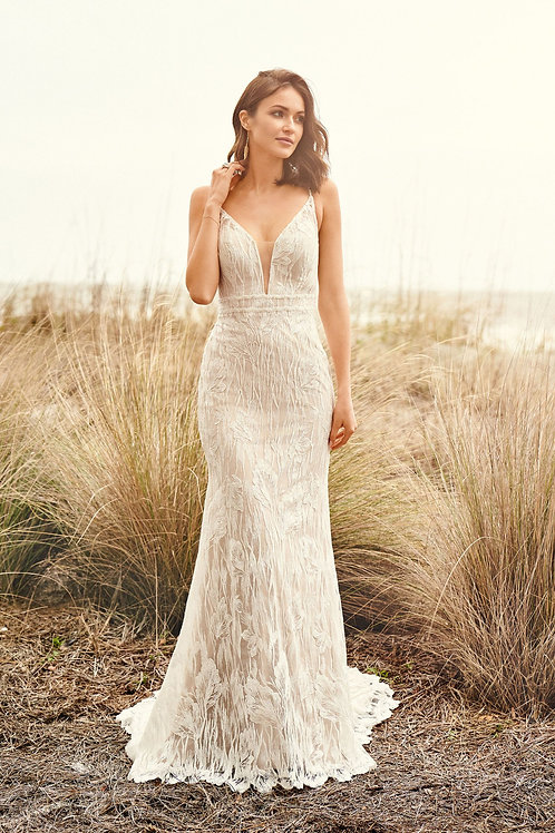 66103 Lillian West Fit & Flare Wedding Dress- To Order