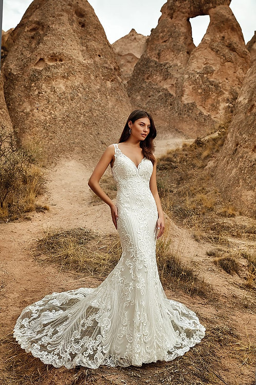 Venice DR2041 Eddy K Fit & Flare Wedding Dress- To Order