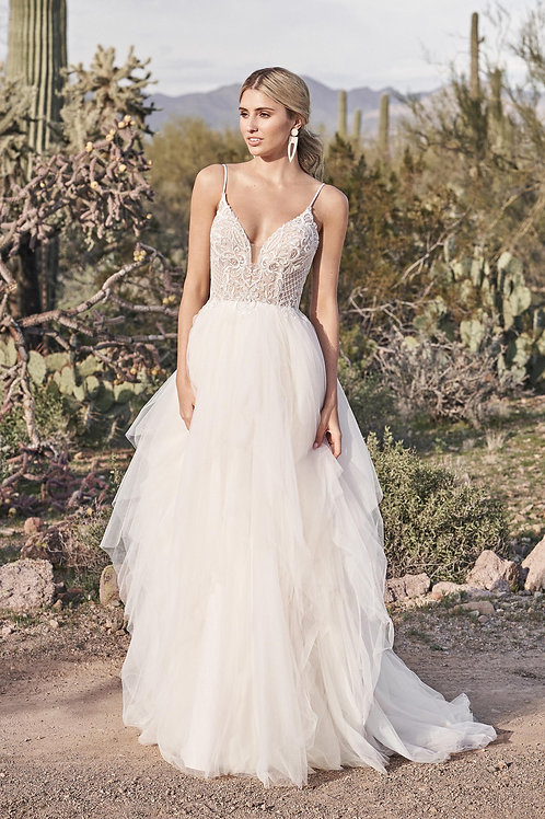66177 Lillian West A-Line Wedding Dress- To Order