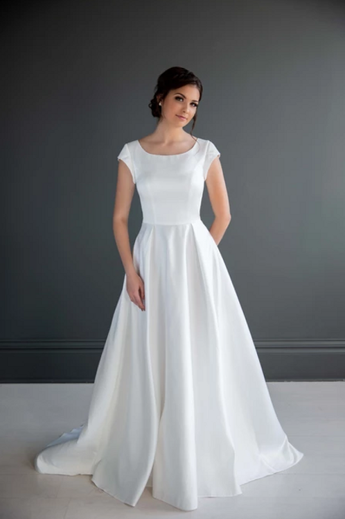Carrie MC7230 MBC by Barbie A-Line Wedding Dress- To Order
