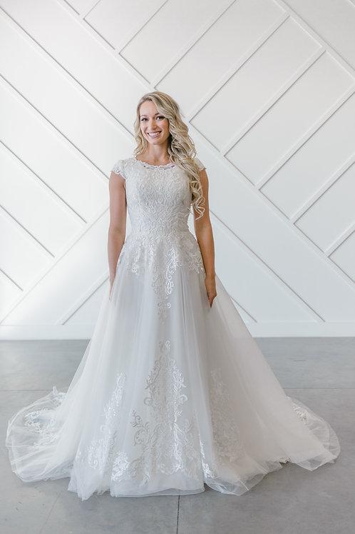 EK1298M Eddy K A-Line Wedding Dress- In Stock