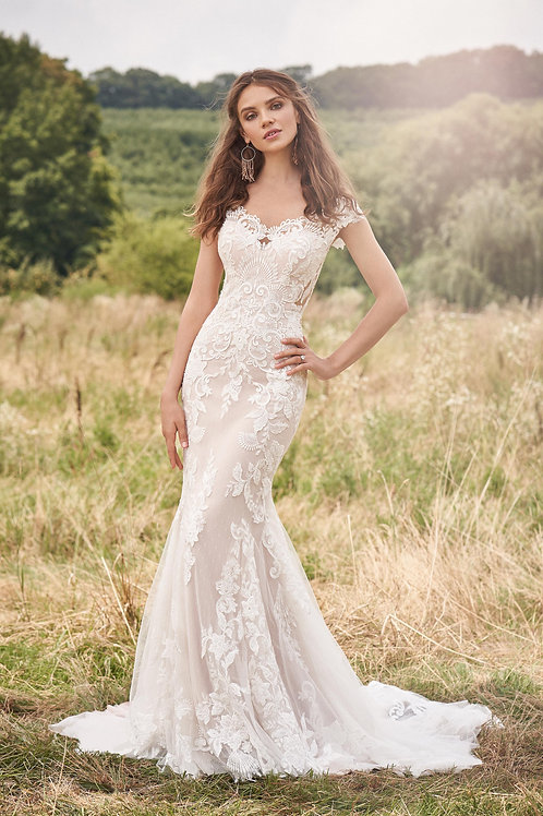 66134 Lillian West Fit & Flare Wedding Dress- To Order