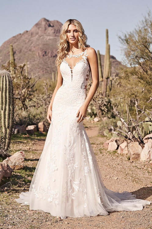 66167 Lillian West Trumpet Wedding Dress- To Order