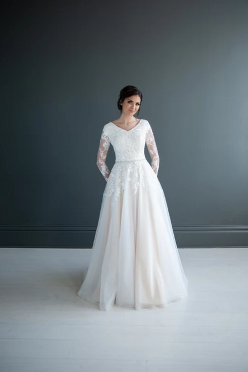 Oaklee MC7212 MBC by Barbie A-Line Wedding Dress- To Order