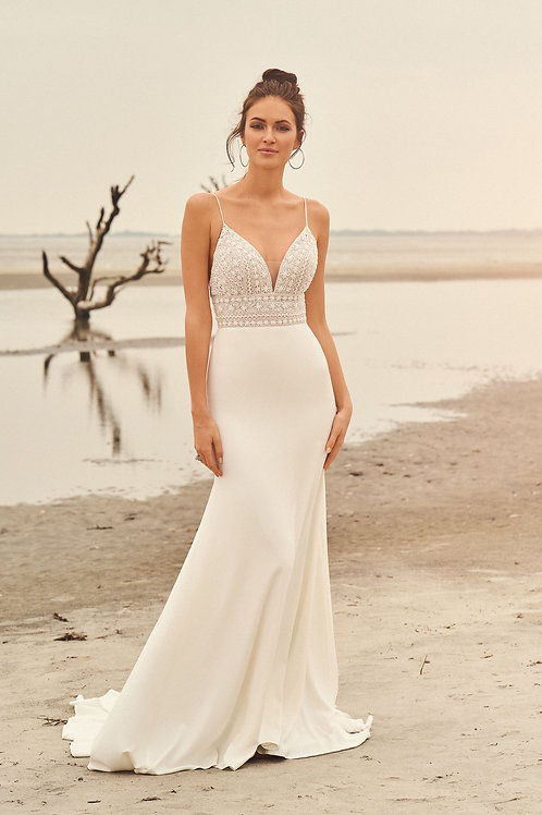 66099 Lillian West Fit & Flare Wedding Dress- To Order