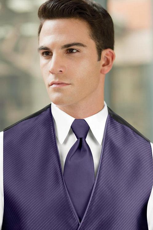 Solid Purple Rain Windsor Tie