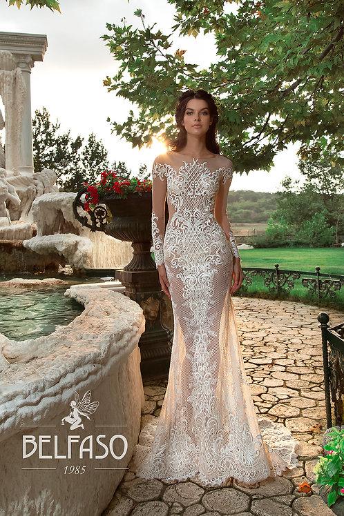 Mon Blan Belfaso Sheath Wedding Dress- To Order