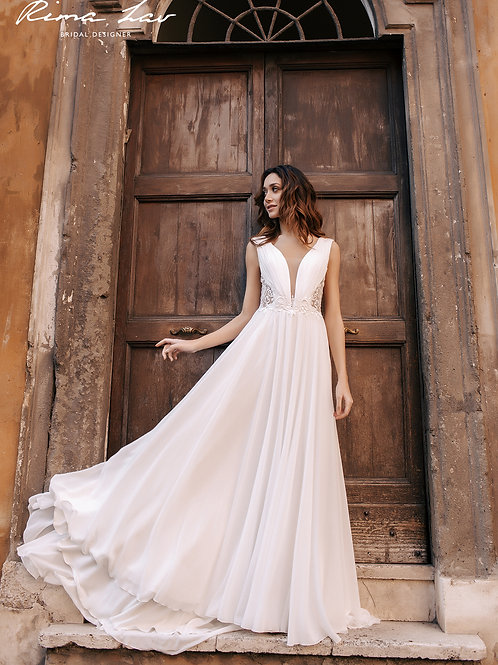 Pola Rima Lav A-Line Wedding Dress- To Order