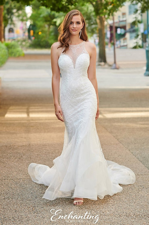 120165 Enchanting Fit & Flare Wedding Dress- To Order