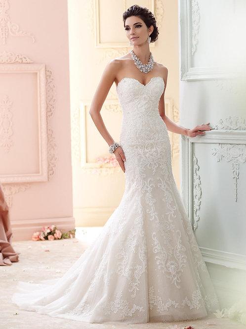 Cass 215274 Martin Thornburg Trumpet Wedding Dress- In Stock