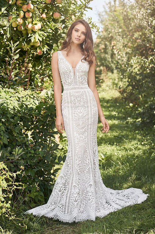 66126 Lillian West Fit & Flare Wedding Dress- In Stock