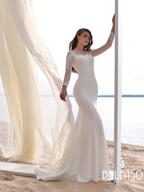 Rachel Belfaso Fit & Flare Wedding Dress- To Order