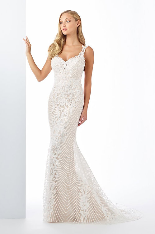 119120 Enchanting Fit & Flare Wedding Dress- To Order