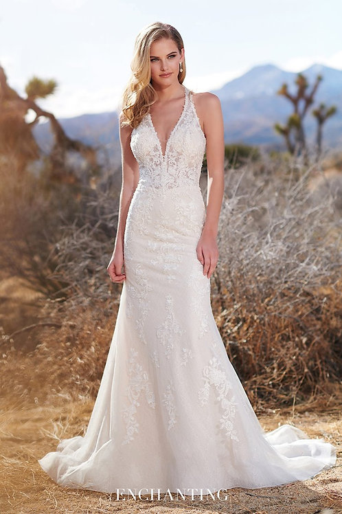 220117 Enchanting Fit Flare Wedding Dress- To Order