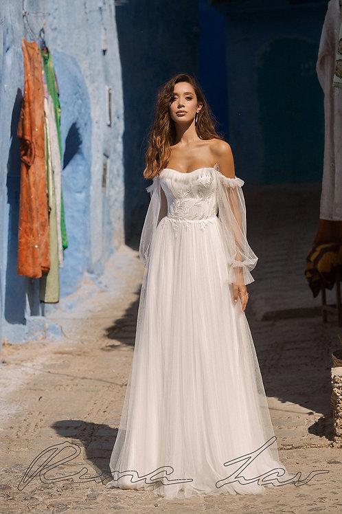 Pastella Rima Lav A-Line Wedding Dress- To Order