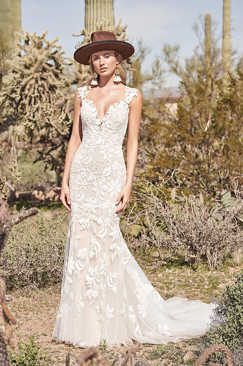 66172 Lillian West Fit & Flare Wedding Dress- To Order