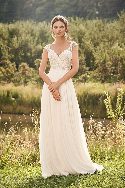 66132 Lillian West Sheath Wedding Dress- In Stock