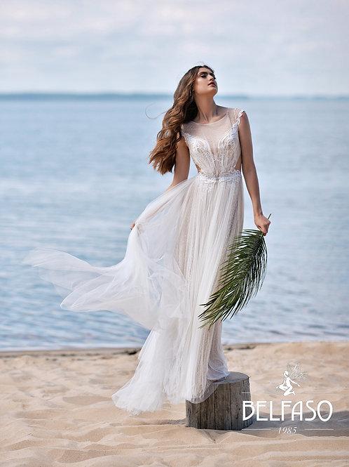 Sheldon Belfaso Sheath Wedding Dress- To Order