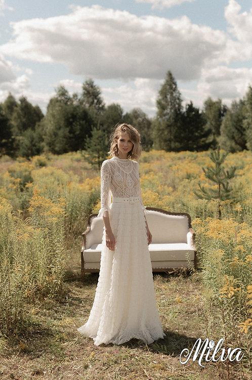 Blanche Milva Sheath Wedding Dress- To Order