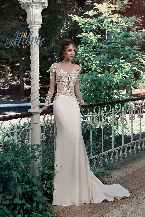 Valetta Milva Sheath Wedding Gown- IN STOCK
