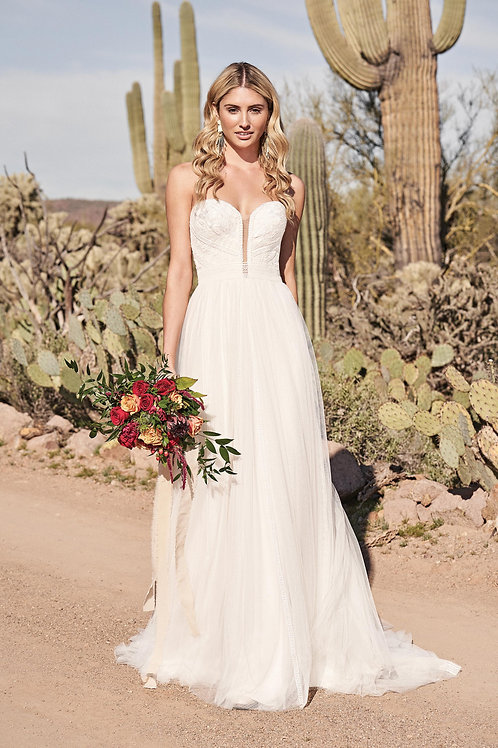 66168 Lillian West A-Line Wedding Dress- To Order